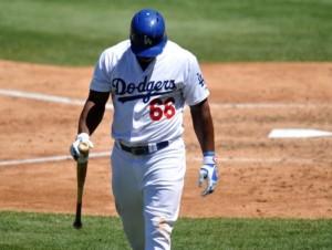 Los Angeles Dodgers Yasiel Puig
