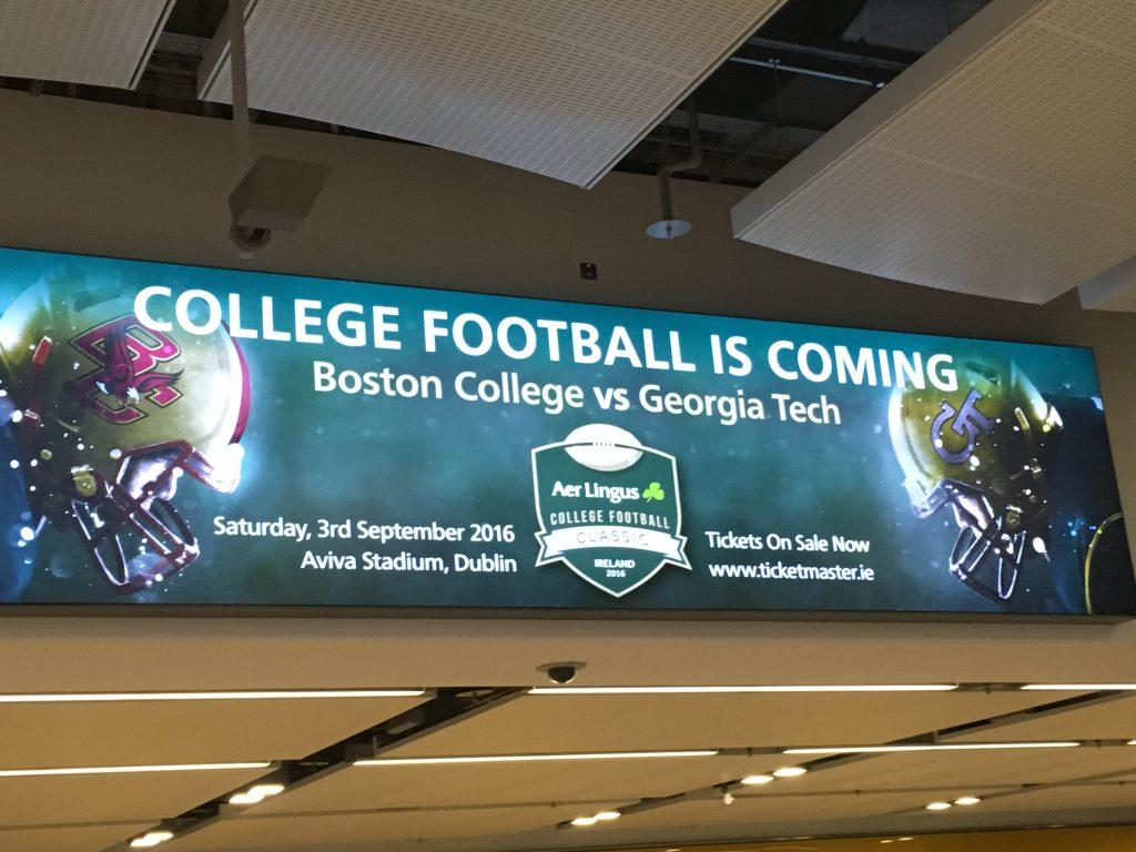 Boston College vs. Georgia Tech in Dublin Ireland