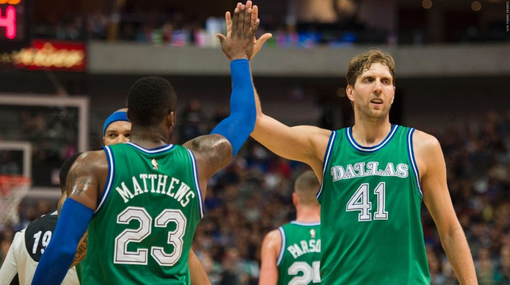 With Matthews and Nowitzki and now Barnes, the Mavs are looking sharp