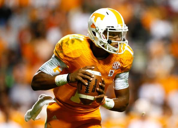 Despite his great play, the senior, Joshua Dobbs, was unable to prevent his teams first loss against Texas A&M