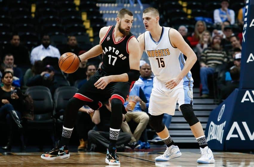 Denver Nuggets center Nikola Jokic will have a tough battle against the Toronto Raptors center Jonas Valanciunas