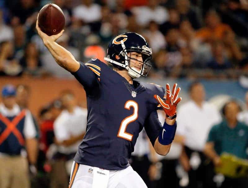 Brian Hover proved to be a solid replacement for the Bears starting QB Jay Cutler!!!