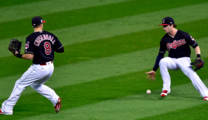 Cleveland Indians Tyler Naquin Lonnie Chisenhall